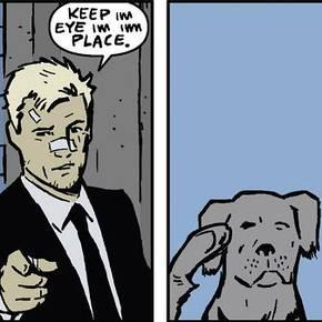 Hawkeye 11 Pizza Dog Salute